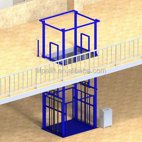 3000 kg Ağır hizmet tipi Hidrolik Inşaat Açık Asansör Asansörler