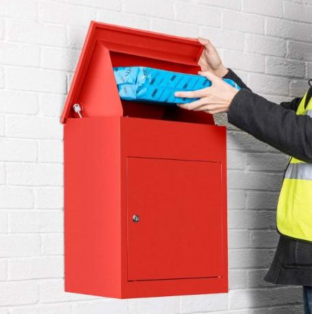 โรงงานที่ดีที่สุดราคาสแตนเลสโลหะกล่องไปรษณีย์กล่องเหล็กชุบสังกะสี Apartment Smart พัสดุ
