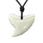 GX047 New Zealand Maori Primitive tribes jewelry handmade-carved Shark teeth pendant necklace yak bone Choker for surfing
