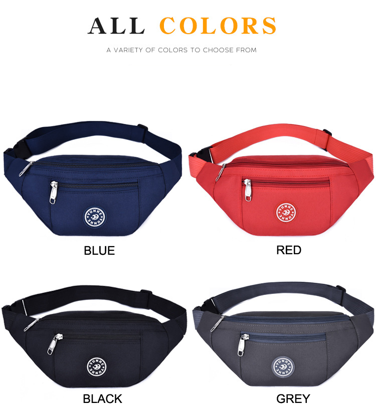 Customized Waist Bag Wholesales Oxford Outdoor Fanny Packs Waterproof Casual Bag 600D polyester Waist Bag