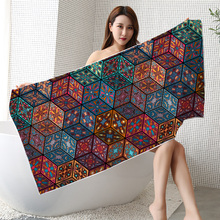 Promotional Custom Printing Retro Mandala Style Portable Folding Beach Mat