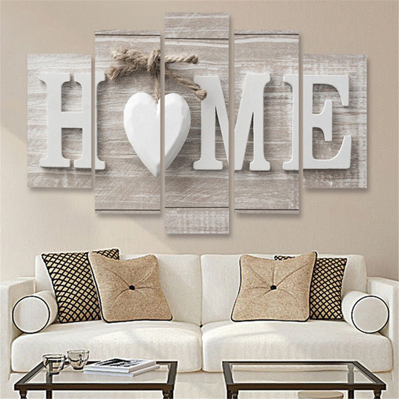 Unframed 5 Pieces Letter Love Print home goods Decorative Wall  art canvas painting,Picture On Canvas