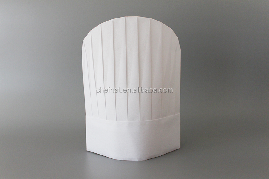 Cheap price disposable non woven round top chef hat restaurant supplies cook hat
