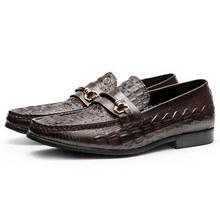Мужская повседневная обувь из натуральной кожи; Деловые модельные туфли для торжеств; Мужские брендовые свадебные туфли оксфорды Bullock; Цвет...(Китай)