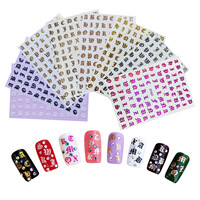 2020 Hot Design Laser English Letters Sticker Retro Alphabet Nail Sticker For Nail Art Decoration