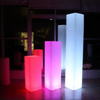 3MM small hot sale acrylic square light plinth clear acrylic column suitable for wedding decoration