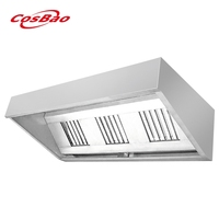 Cosbao Kitchen Equipment Stainless Steel Commercial Restaurant Range Hood / Cooker Hood