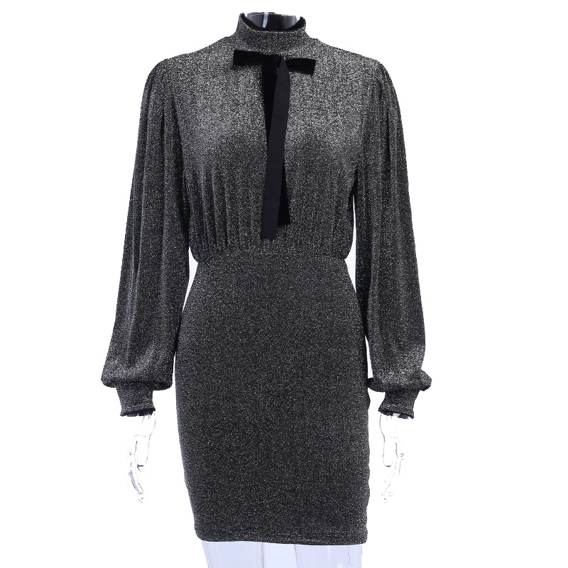 Women Sequin Dresses Luxurious Evening Dresses for Ladies Autumn Party Bodycon Dress Cloth
