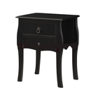 Black Bedside Table Shabby Chic Console Side Table French Bedroom Tallboy Drawer Chest Unit