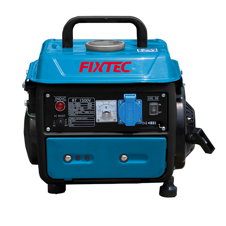 FIXTEC 220V 2500W 2800W 5000W Portable Mini Electric Starter Gasoline Generator for Home Use