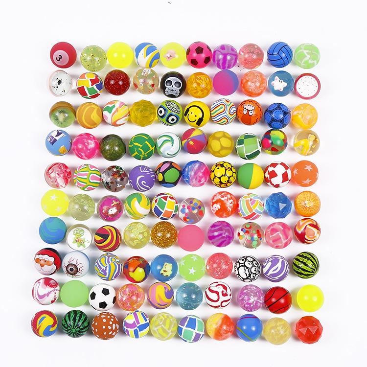 Offre Spéciale fantaisie 27mm mélange coloré balles rebondissantes pour distributeur automatique enfants ballon de saut en caoutchouc