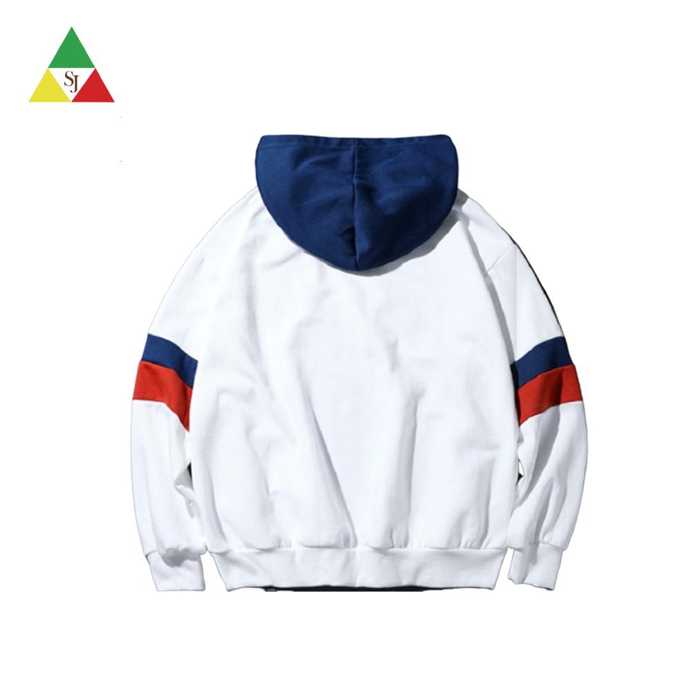 Custom printing high quality colorblock hoodie