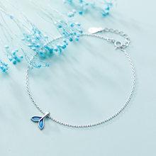 OBEAR синий Океанский браслет Русалка для голеностопного Siver, покрытый рыбьим хвостом, ножные браслеты, браслеты, украшения для женщин(Китай)
