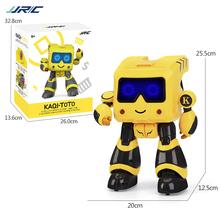 JJRC R5 RC Robot Jouet Enfant Suivi Automatique Contrôle par Montre Connecté de Chant et Danse de Programmation Intelligente Bleu