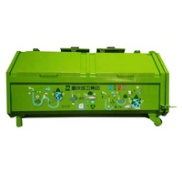 chinese style municipal environmental sanitation Hook lift Steel Skip Bin waste compactor container