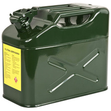 Staal Leger Benzine Tank Verticale Gas Jerry Kan Groen <span class=keywords><strong>10</strong></span> <span class=keywords><strong>Liter</strong></span> 2.65 Gallon