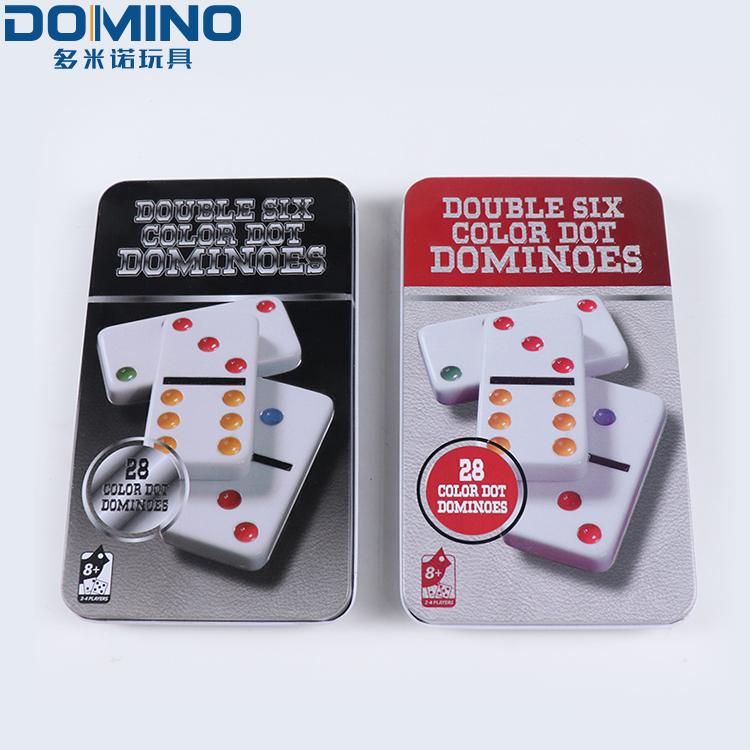 Custom requirements print table top jumbo professional educational game set plastic domino