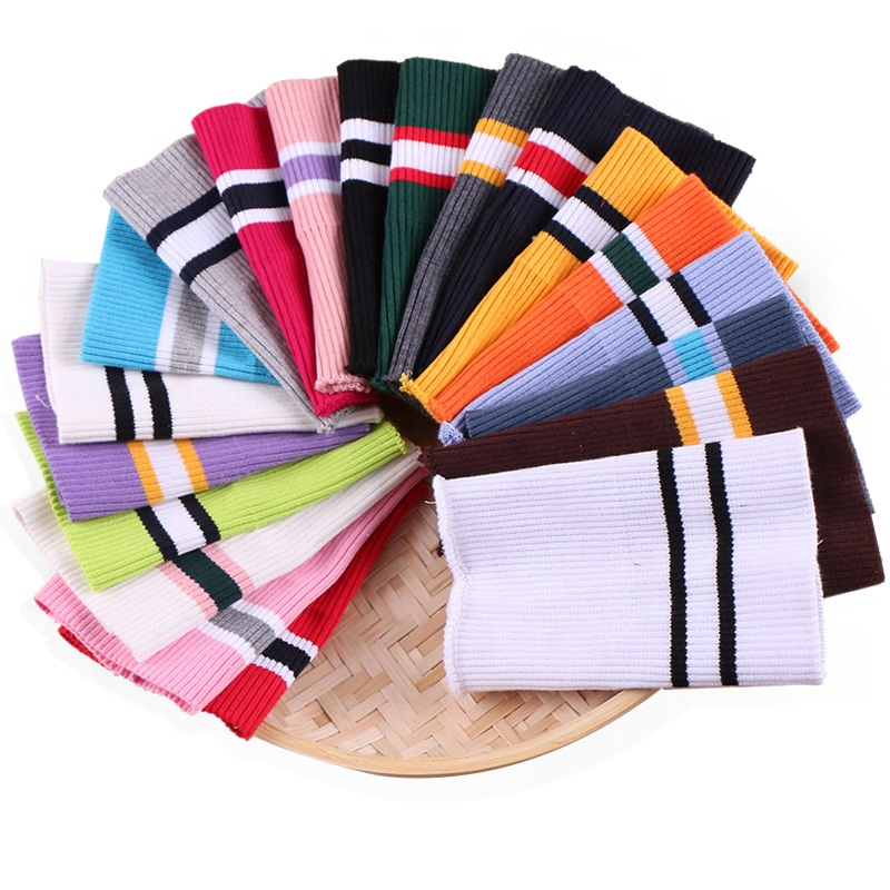 2x2 Strip Cotton and Spandex Rib Knit cuff for Jacket Clothing Accessories