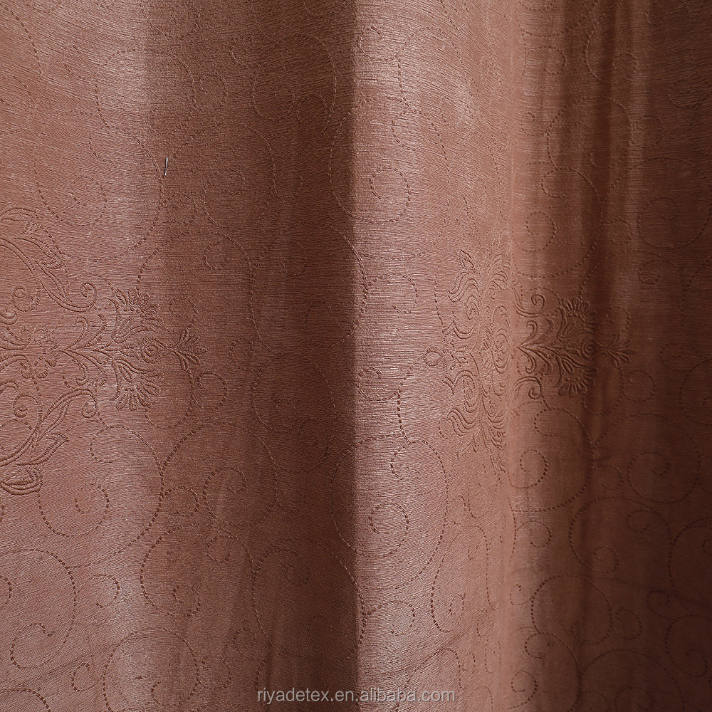 100% Polyester Embossed Blackout Curtain Upholstery Fabric
