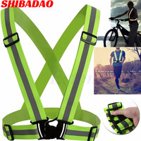 Reflective Strap Flexible reflector vest brace motorcycle riding running high light belts High Visible safety clothing