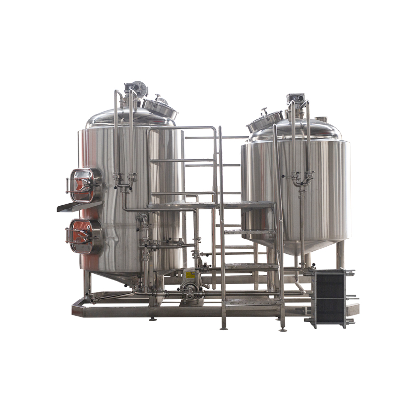 Zuinig Draught beer Machine Met Brewhouse, Cylindro Conische Vergisters