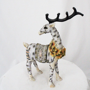 Christmas decoration resin Sculpture lighted animated deer colorful LED