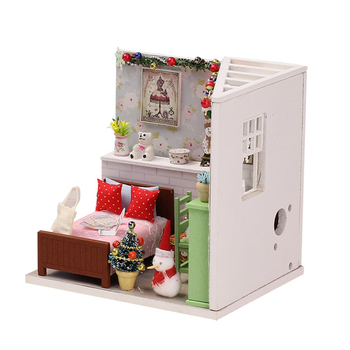Doll house Model Toys Role Play Elegant House Furnishing Florence Room Children Toys Kids Educational Toys