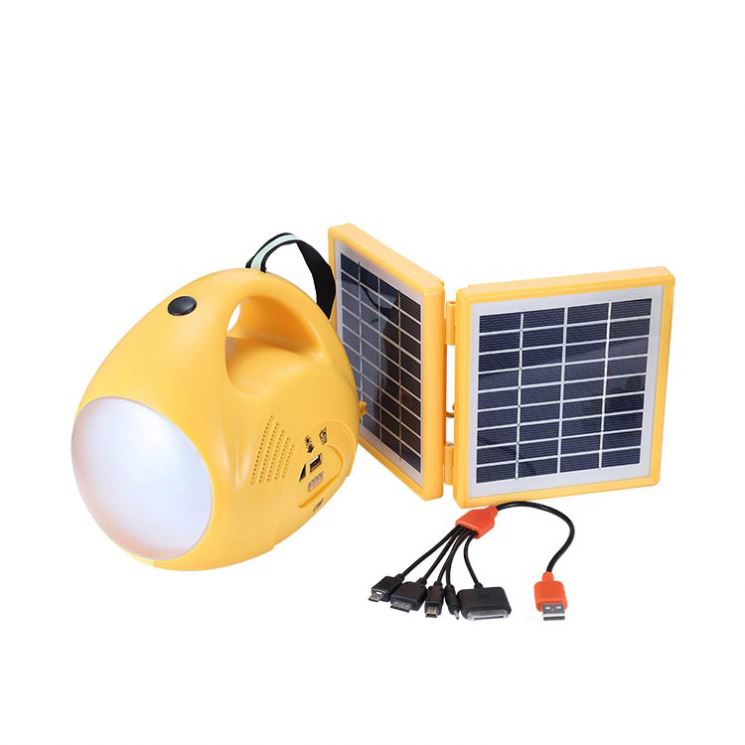 New fashion design camping portable security home solar lighting system