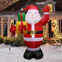 Ourwarm 5ft ตกแต่งคริสต์มาสกลางแจ้งไฟ LED Inflatable Santa Claus