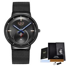 LIGE, креативные простые кварцевые часы, женское платье, стальная сетка, водонепроницаемые часы, новые часы, женские часы-браслет, relogios feminino(Китай)