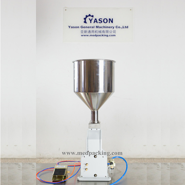 YTK-A02 Pneumatic Single Head Piston and Paste Filling Machine For Cream