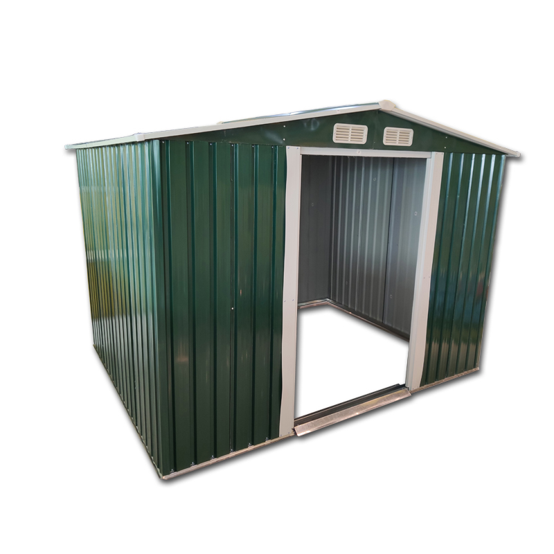 6 X 8 FT Metal Garden Shed Apex Roof Outdoor Storage 2 Door