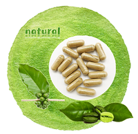 Lowest price pure organic Chlorogenic Acid Green Coffee Bean Extract powder capsules pill for weight loss