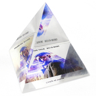 3D Laser Crystal K9 Glass Paperweight Engraved Pyramid Wholesale Crafts Decoration Engraved