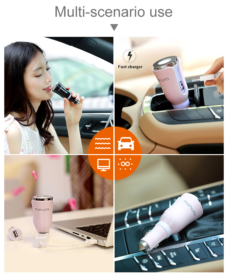 Wholesale Nanum 12v Air Purifier usb Fragrance Aromatherapy Essential Oil Car Diffuser with Aroma Sheet