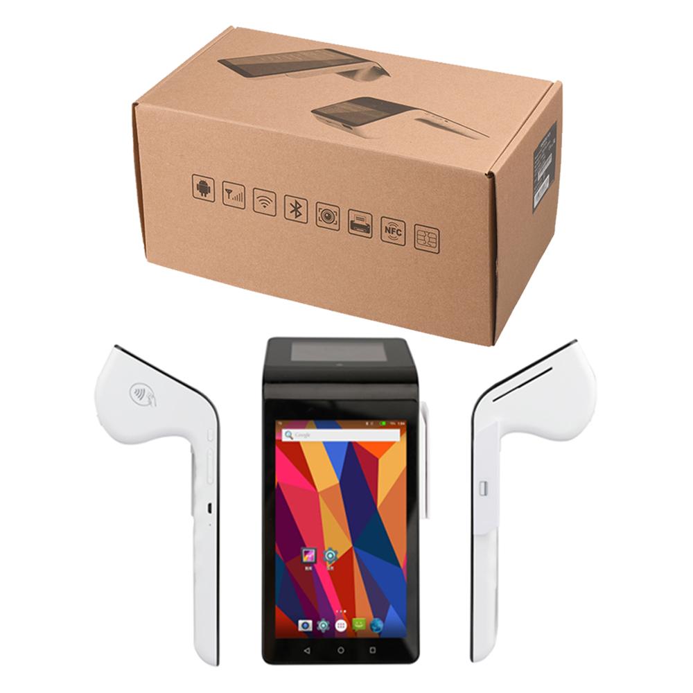 Android 7.0 Handheld-Terminal Ts-7003 alle in einem Pos-System mit Nfc-Kartenleser/Drucker/Dual-Bildschirm