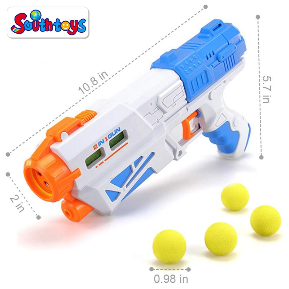2 in 1 Summer Water Guns and Foam Soft Pinball Blaster Shooting Gun Toy Set