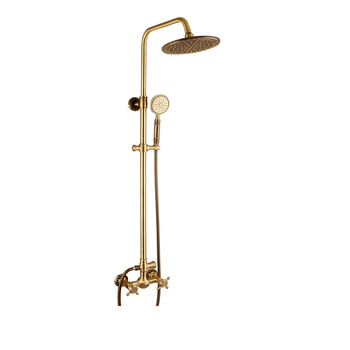"Popular Thermostatic Faucets 8"" Round Brass In-wall Antique Bronze Shower Set Bathroom Exposed Rain Shower Faucet Mixer Tap"