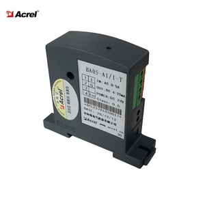 single phase AC input current sensor DC 4-20mA signal output with true effective value measurement
