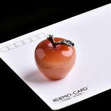 1 шт., натуральный кристалл, кристалл кошачий глаз, яблоко, минеральное ювелирное изделие, украшение для дома и учебы, украшение для пары, сде...(Китай)