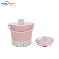 Foldable Travel Electric Hot Pot Cooking Silicone Collapsible Electric Pot
