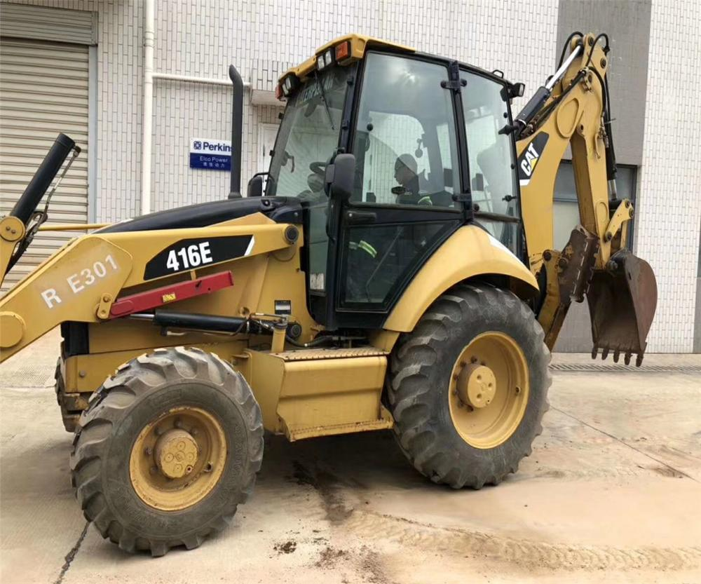 CAT 416E backhoe loader used 416E wood loader/backhoe loader/skid steer loader