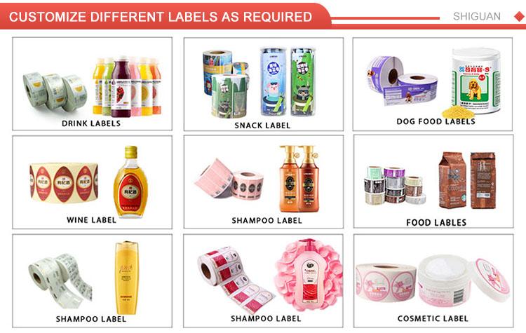 Prodotto Personalizzato Etichetta Alimentare Sticker Oem Autoadesivo Acrilico Stampa di Etichette