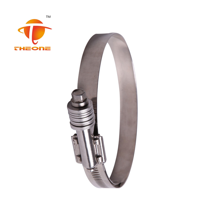 ss304 Heavy Duty American Hose Clamp With long screw and washer