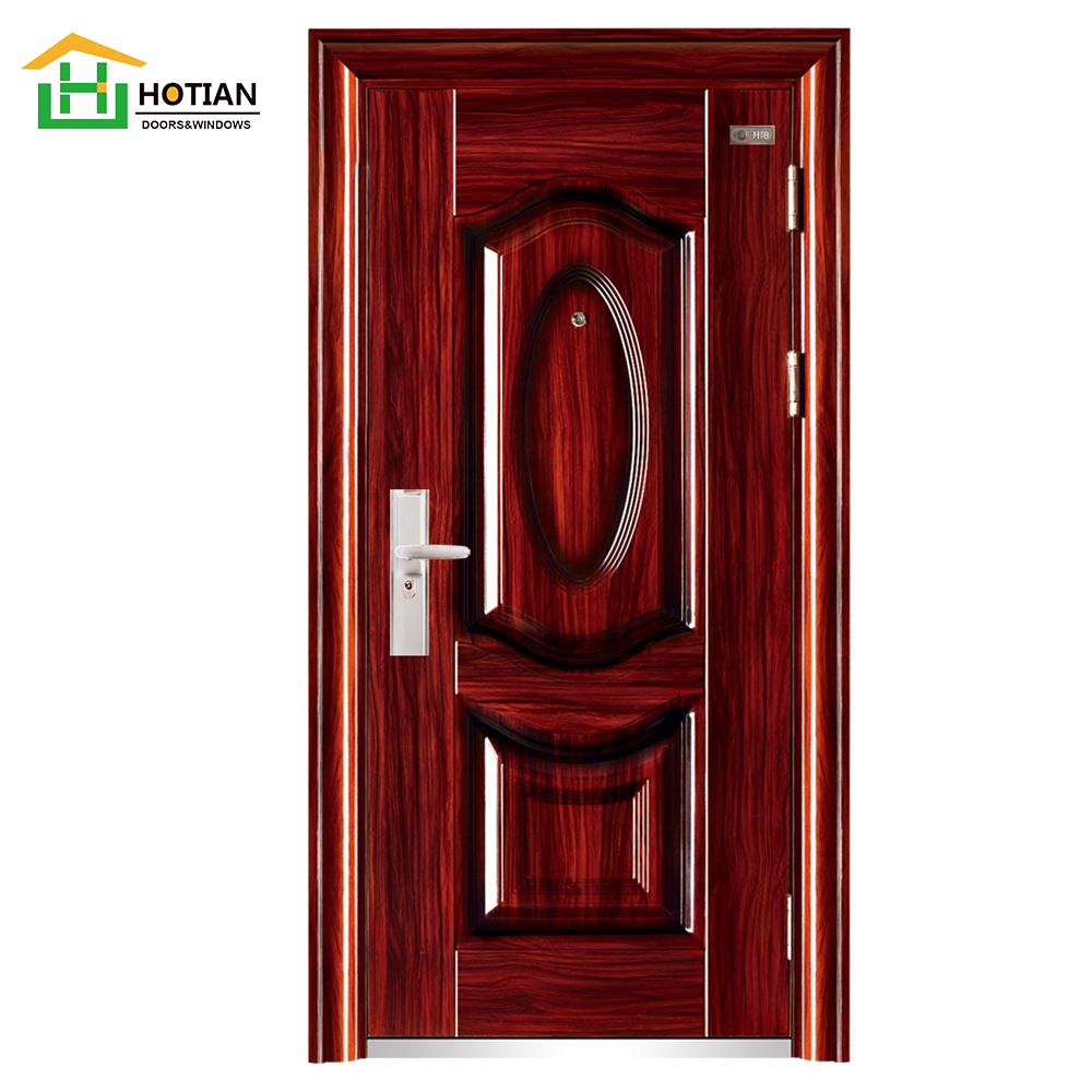 China Suppliers Asian Exterior Safety Door Pictures Front iron safety door design