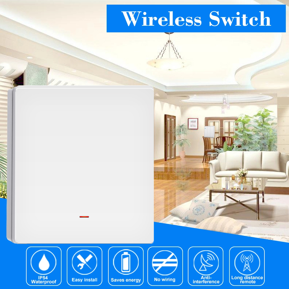 Tuya And Xenon Latest Cooperation Smart Wifi EU/UK/CN Type 1 2 3 Gang White Switch Work With Alexa Echo