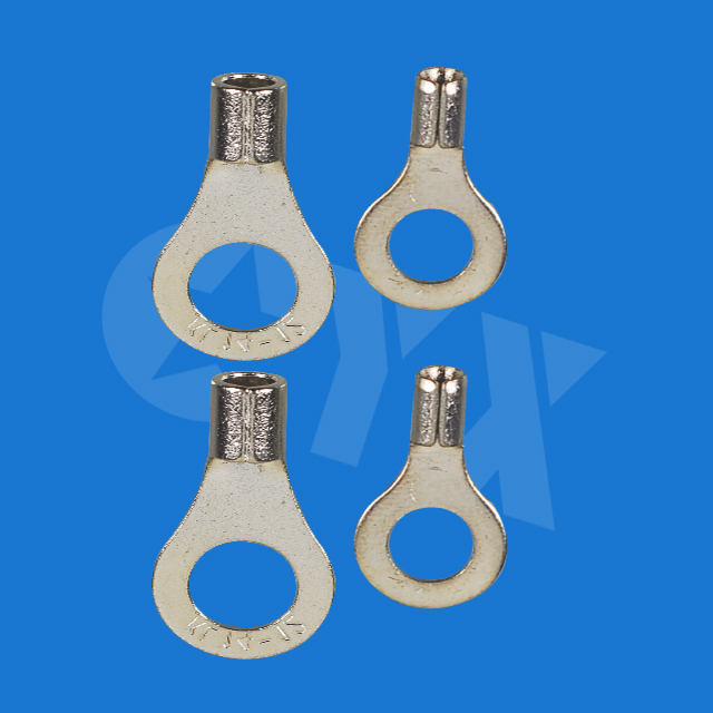 200PCS RNB2 8 Non insulated ring terminal electrical wire
