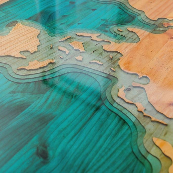Fabrik hohe qualität epoxy tisch massivholz esstisch