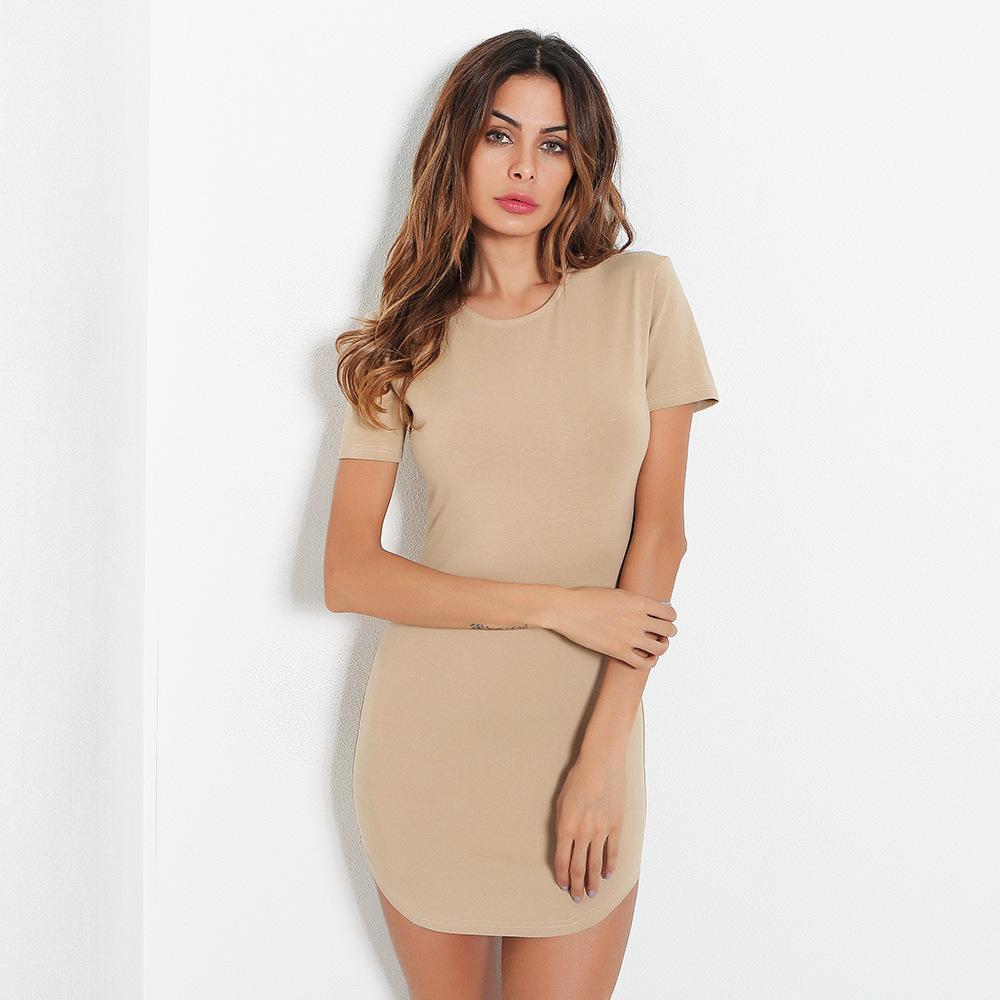 China ropa al por mayor precio de alta calidad vestido de Camisa larga fabricante mujeres vestido de camiseta larga en blanco