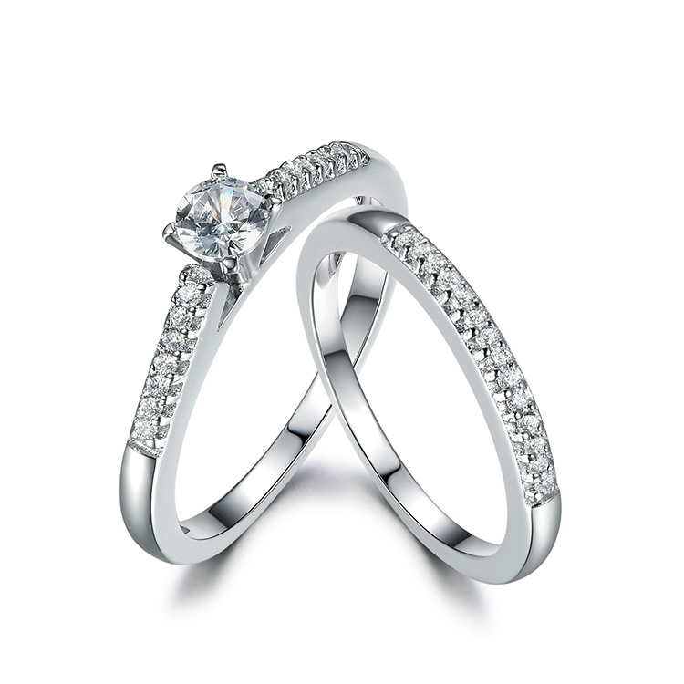 Engagement Wedding Jewelry 925 Sterling Silver Couple Rings for women